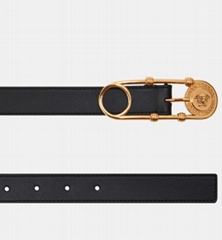 SAFETY PIN belt Women medusa leather waist belts
