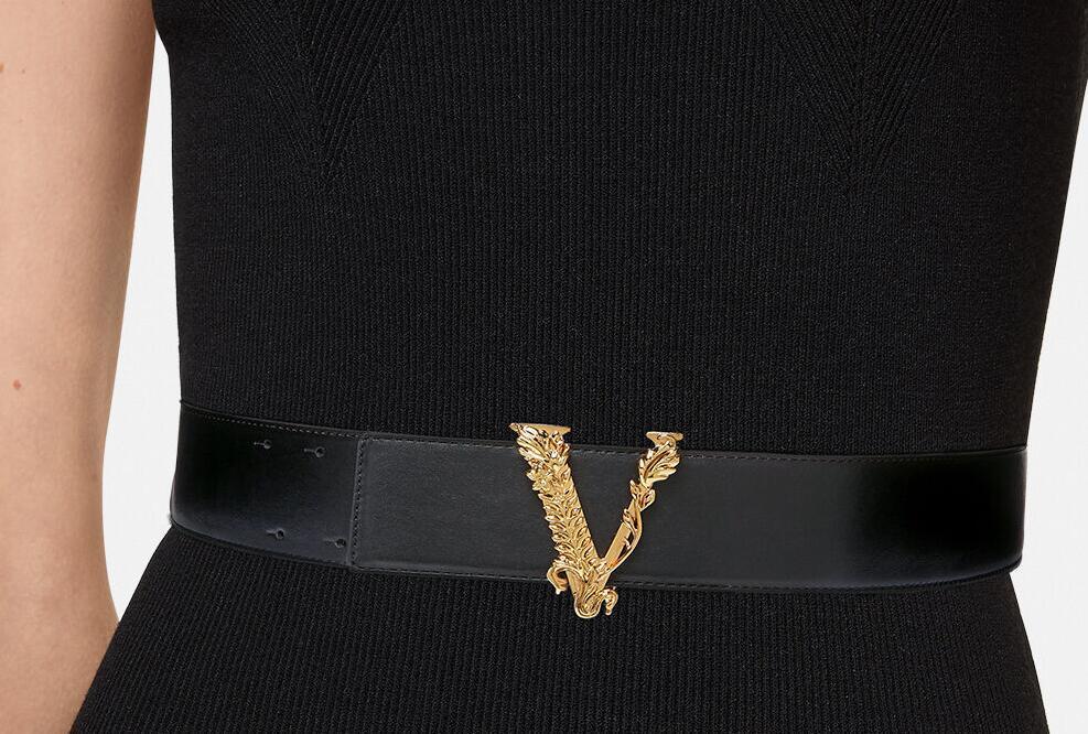 Versace VIRTUS LEATHER BELT