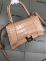 Women s Hourglass top handle small bag beige