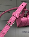 Women s Hourglass top handle small bag pink