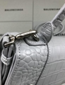Women s Hourglass top handle small bag grey