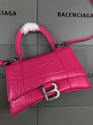 Women's Hourglass top handle small bag hot pink
