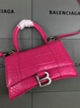 Women s Hourglass top handle small bag hot pink