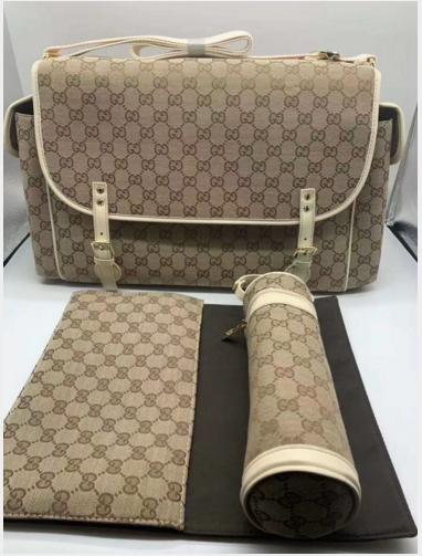 Gucci Classic Logo Print Diaper Bag