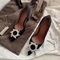 Amina Muaddi black Suede Begum Pumps  Women black high heel pumps