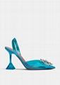 Amina Muaddi Begum Crystal-embellished Pvc Slingback Pumps blue