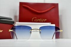 CARTIER Rimless Harmattan C Decor Gold smooth Occhiali Frame Sunglasses