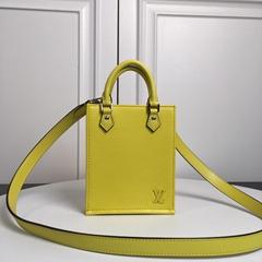 Louis Vuitton PETIT SAC PLAT Bag LV yellow epi leather small bag
