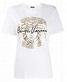 Versace metallic Medusa print T-shirt Medusa crew-neck with logo and signature