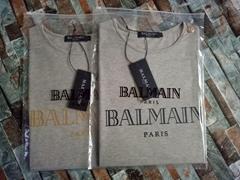 BALMAIN Button embellished printed cotton jersey tank Women t-shirts cheap tee
