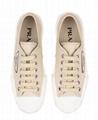 Prada logo cotton low-top sneakers women canvas shoes