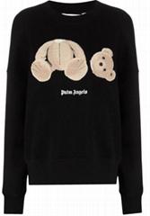 Palm Angels bear-motif sweatshirt Women BEAR FITTED CREW BLACK