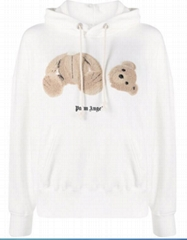 Palm Angels Teddy Bear patch cotton hoodie cheap cotton Bear sweatshirts