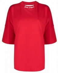Palm Angels logo-print oversized T-shirt women cotton tee
