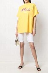 Palm Angels oversized Bear print T-shirt yellow women t-shirts