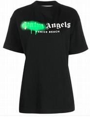 Palm Angels VENICE BEACH SPRAYED TEE BLACK GREEN FL graffiti logo print t-shirt