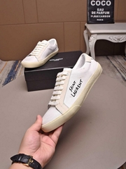 SAINT LAURENT Court Classic Embroidered Sneaker YSL Sneaker shoes