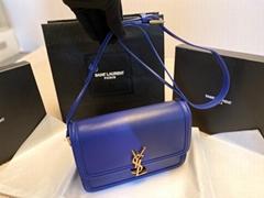 Saint Laurent Solferino Medium leather crossbody bag     Women Satchel in Box