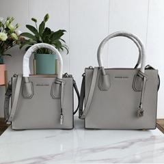 Mercer Medium Pebbled Leather Accordion Tote Bag Mk Handbag