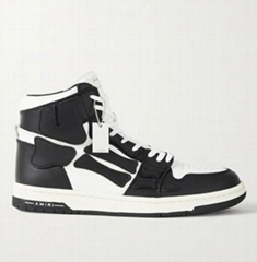Amiri Skel Top Colour Block Leather High Top Sneakers fashion men shoes