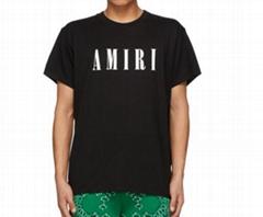 AMIRI Black Core Logo T-Shirt Men Short sleeve cotton jersey T-shirt