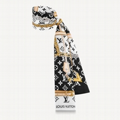Louis Vuitton Monogram confidential bandeau LV silk small scarf head scarf