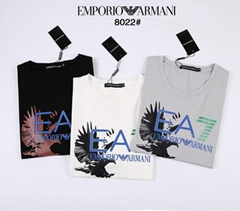 Armani EA7 Cotton T-Shirt With Logo for Men Cheap tee top