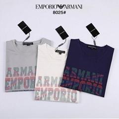 Armani logo Printed Jersey T Shirt for Men Cheap cotton t-shirts