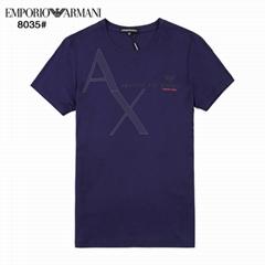 Armani AX Jersey T Shirt Fashion Men cotton tee navy