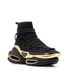Balmain B Bold platform sneakers men knit lace up boots