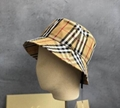BURBERRY Checked cotton blend twill bucket hat Fashion sun hat