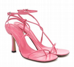 BV Line leather sandals Women thin strap ankle sandals  (Hot Product - 1*)