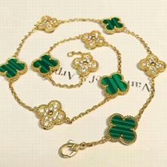 Van Cleef & Arpels Vintage Alhambra Necklace 10 motifs