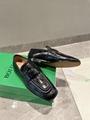 Bottega Veneta Croc-effect leather loafers Women BV flat black