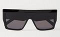 CELINE EYEWEAR Oversized D-frame acetate sunglasses Women black glasses