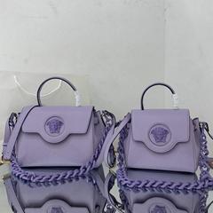 Versace Small La Medusa Top Handle Bag Purple women fashion chain bag