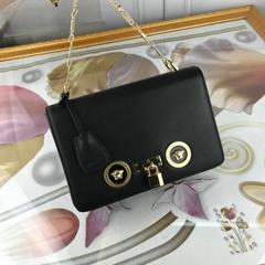Versace Black Small Icon Logo Chain Bag Medusa chain shoulder bag