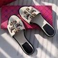 Tory Burch canvas Rhinestone slipper Women Fashion jewelry sandals