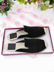 Tory Burch Suede Espadrille Slippers Ladies sandals women slippers