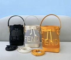 Fendi Mon Tresor mini bucket bag Fendi shoulder mesh bag