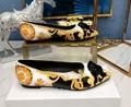 Versace Baroque Flat Shoes For Women medusa flat yellow