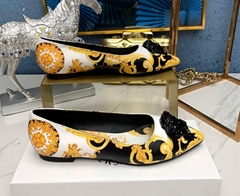 Baroque Flat Shoes For Women medusa flat yellow