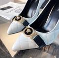 Versace Leather Medusa Icon Pumps Shoes Ladies high heel pumps