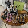 Versace Medusa Chain Nappa Leather Sandals Ladies high heel sandal