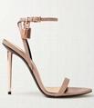 TOM FORD Padlock leather sandals beige Women lock heel sandals