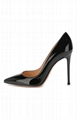 GIANVITO ROSSI 105 Black patent leather pumps Fashion high heel shoes