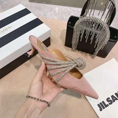 Aquazzura Celeste strappy 45 embellished mules Women Aquazzura heeled mules (Hot Product - 1*)
