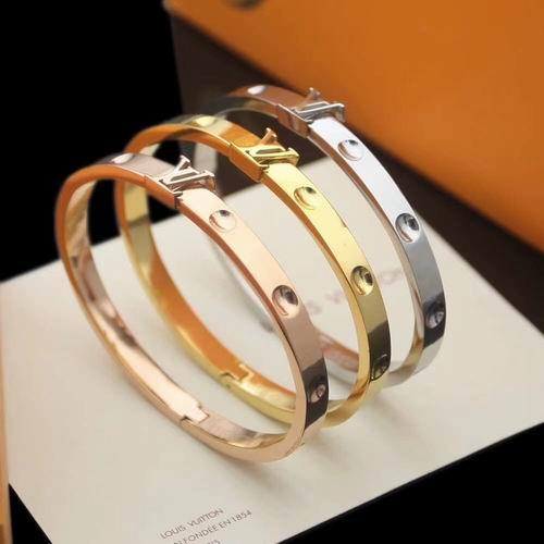 Louis Vuitton Empreinte Yellow Gold Bangle LV Empreinte bracelet