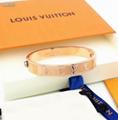 Louis Vuitton Gold Nanogram Cuff