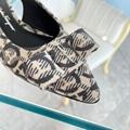 Ferragamo Gancini Fabric Viva sling shoes